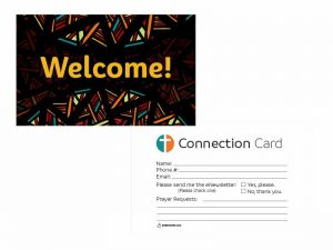 CONNECT VISITOR CARD MULTI/BLACK 50CT