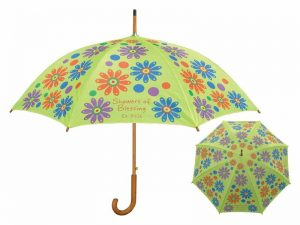WOODEN STICK UMBRELLA SHOWERS OF BLESSING (FLOWERS)