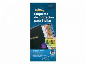 BIBLE INDEX TABS CATHOLIC SPANISH RAINBOW TABBIES PK10