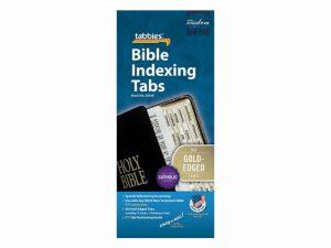 BIBLE INDEX TABS CATHOLIC GOLD TABBIES PK10