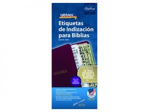 BIBLE INDEX TABS CATHOLIC SPANISH LARGE PRINT GOLD TABBIES PK10