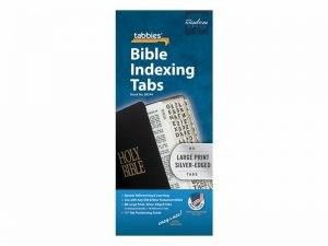 BIBLE INDEX TABS LARGE PRINT SILVER TABBIES PK10