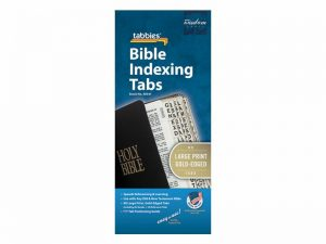 BIBLE INDEX TABS CATHOLIC LARGE PRINT GOLD TABBIES PK10