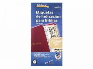 BIBLE INDEX TABS SPANISH LARGE PRINT GOLD TABBIES PK10..