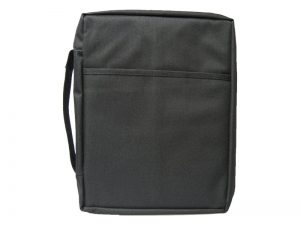BIBLE COVER CANVAS BLACK PLAIN S
