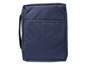 BIBLE COVER CANVAS NAVY PLAIN XL