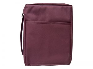 BIBLE COVER CANVAS BURGUNDY PLAIN XL