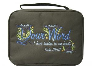 BIBLE COVER CANVAS YOUR WORD M
