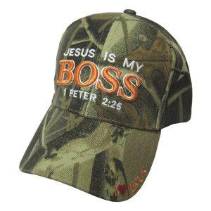 CAP CAMO JESUS IS MY BOSS