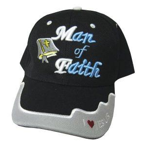 CAP BLACK MAN OF FAITH