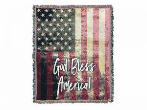 TAPESTRY GOD BLESS AMERICA 52X60