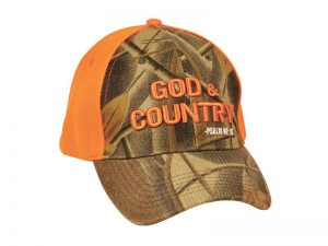 CAP CAMO & ORANGE GOD & COUNTRY