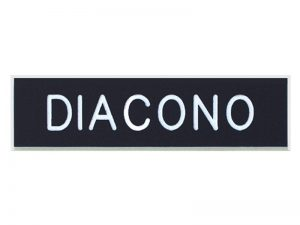BADGE ENGRAVED SPANISH DIACONO / DEACON BLACK