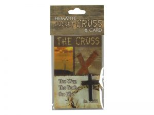 HEMATITE CROSS REFILL 24CT FOR INDIVIDUALLY CARDED BOX DISPLAY