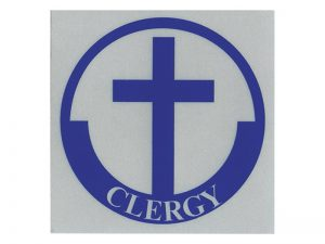 CLERGY SCOTCH REFLECTIVE STICKER PK12
