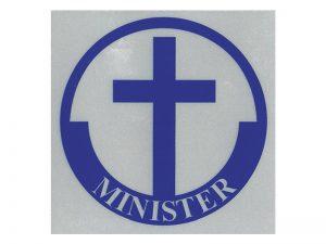 MINISTER SCOTCH REFLECTIVE STICKER PK12