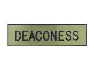 BADGE ENGRAVED DEACONESS GOLD PIN