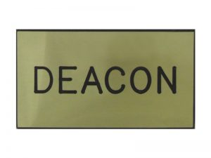 BADGE ENGRAVED DEACON GOLD MAGNET