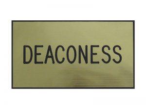 BADGE ENGRAVED DEACONESS GOLD MAGNET