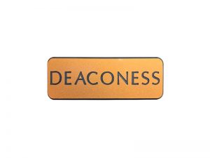 BADGE ENGRAVED CONTEMPORARY DEACONESS GOLD MAGNET