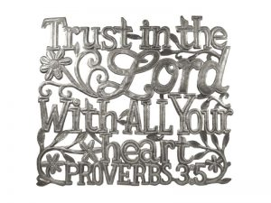 "FTP HAND-HAMMERED DÉCOR ""PROVERBS 3:5"""