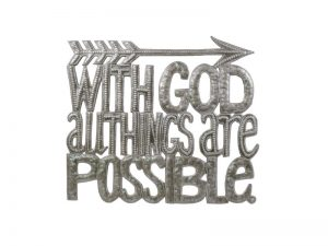 "FTP HAND-HAMMERED DÉCOR ""ALL THINGS POSSIBLE"""