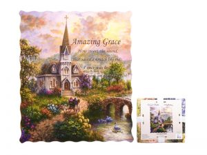 QUILTED THROW-AMAZING GRACE 50″ X 60″