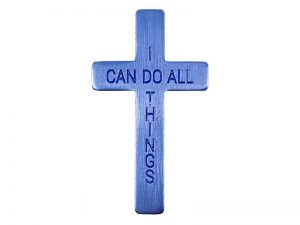 POCKET CROSS I CAN DO ALL THINGS BLUE – 1000 CT