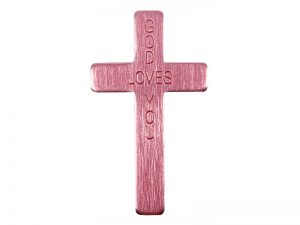 "POCKET CROSS ""GOD LOVES YOU"" PINK 50PK"