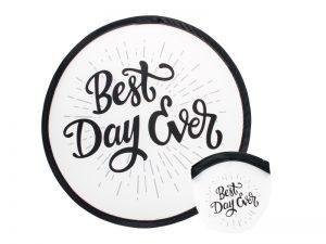 "FOLDABLE HAND FAN ""BEST DAY EVER"" – PK6"