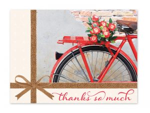 BOXED GREETING CARDS THANK YOU BIKES & BLOOMS