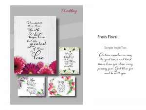 BOXED GREETING CARDS WEDDING FRESH FLORAL