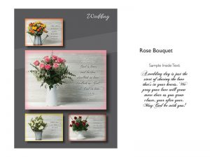 BOXED GREETING CARDS WEDDING ROSE BOUQUET