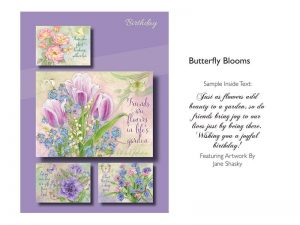 BOXED GREETING CARDS BIRTHDAY BUTTERFLY BLOOMS