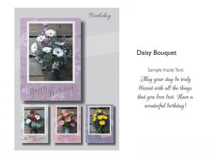 BOXED GREETING CARDS BIRTHDAY DAISY BOUQUET