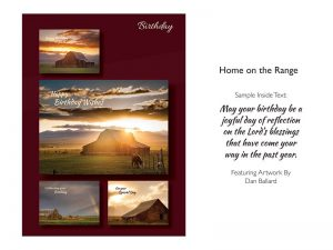 BOXED GREETING CARDS BIRTHDAY HOME ON THE RANGE