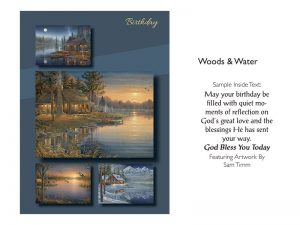 BOXED GREETING CARDS BIRTHDAY WOODS & WATER
