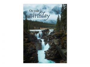 BOXED GREETING CARDS BIRTHDAY WATERFALLS