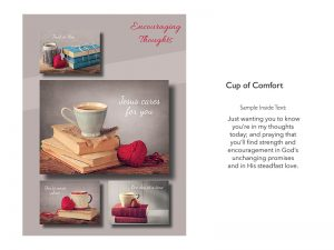 BOXED GREETING CARDS ENCOURAGEMENT CUP OF COMFORT