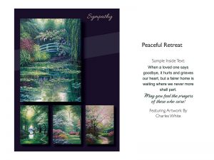 BOXED GREETING CARDS SYMPATHY PEACEFUL RETREAT