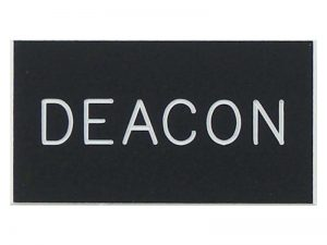 BADGE ENGRAVED DEACON BLACK MAGNET