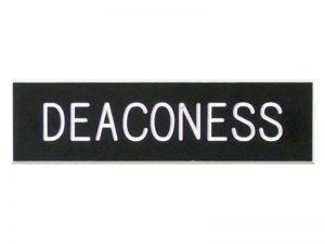 BADGE ENGRAVED DEACONESS BLACK PIN