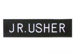 BADGE ENGRAVED JR USHER BLACK PIN