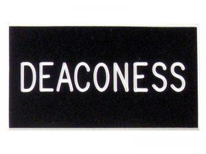 BADGE ENGRAVED DEACONESS BLACK CLIP