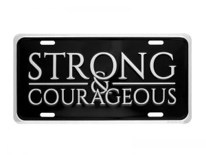AUTOTAG STRONG & COURAGEOUS