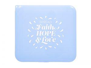 FACE MASK CASE FAITH HOPE LOVE BLUE